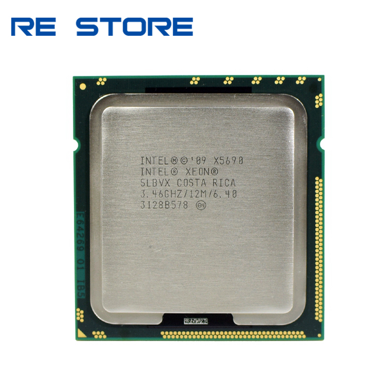 Intel Xeon X5690 3.46GHz 6.4GT/s 12MB 6 Core 1333MHz SLBVX CPU Processor title=