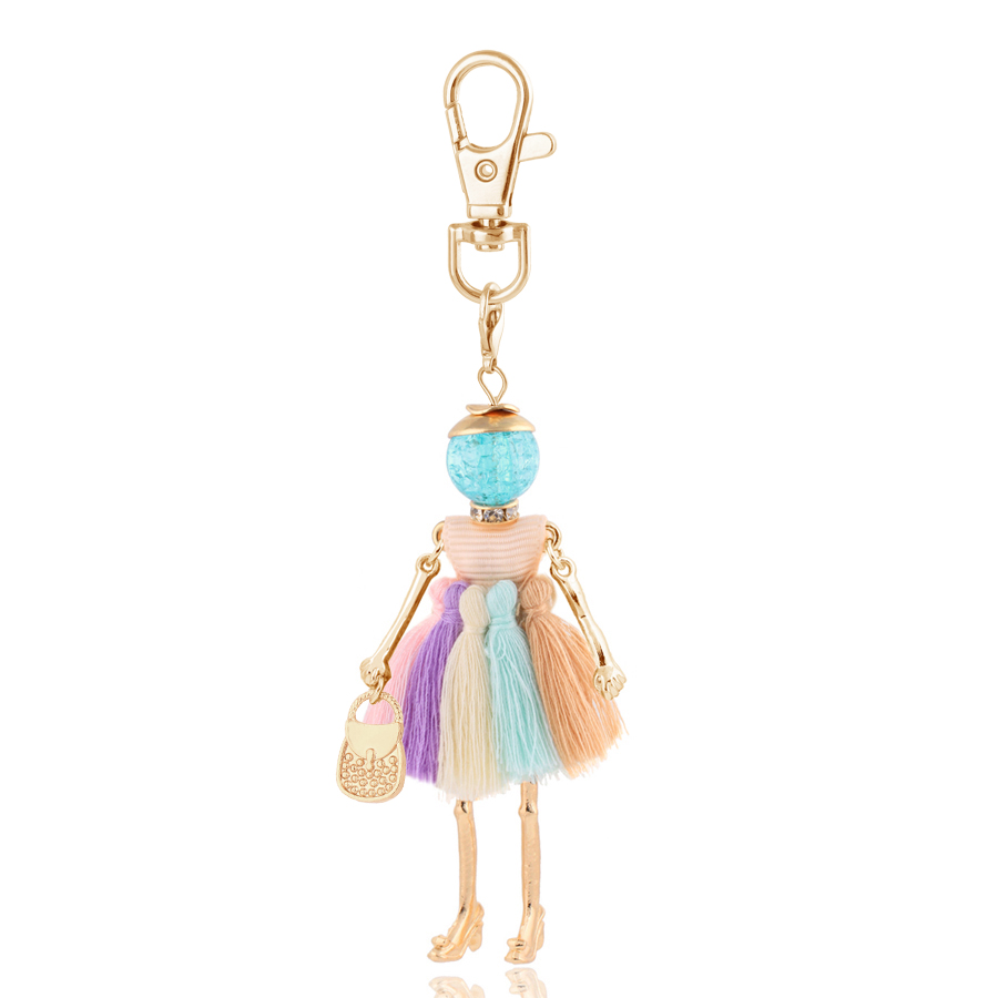 Fashion Women Keychain 2020 New Statement Charm Metal Key Chain for Lady Jewelry Cute Gift Female Trendy Bag Pendant Wholesale