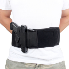 Tactical Pistol Holster Pouch Concealed Hunting-Belt Military-Gun Belly-Band Airsoft