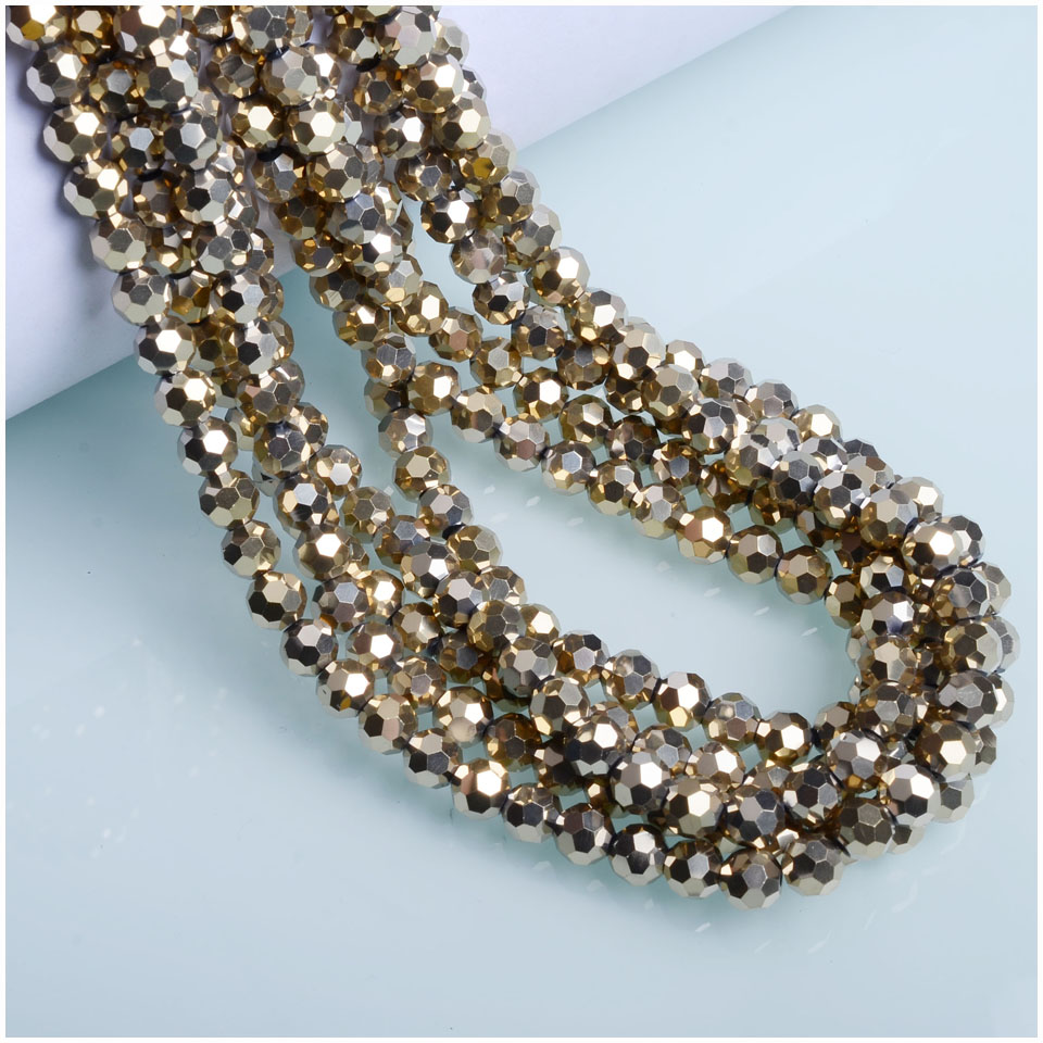 32 Faceted Round Glass Beads Wholesale Football shape Crystal Beads for Jewelry Making 35Pcs Per Bag
