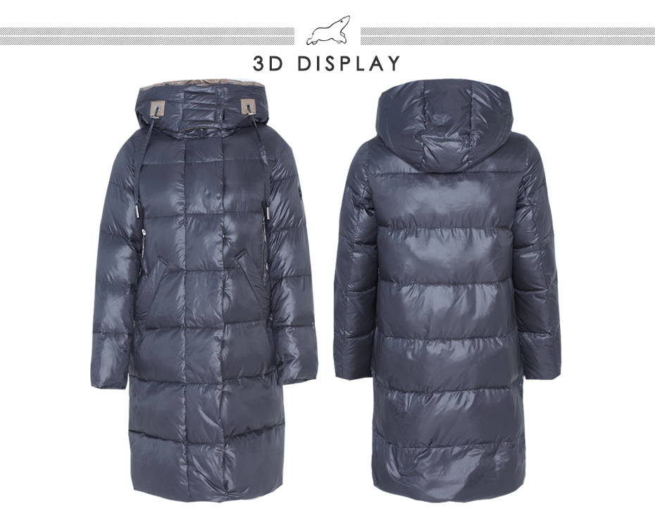 19 New Winter Women Jacket Fashion Woman Cotton High Quality Female Parkas Hooded Women's Coats Brand Clothing GWD19501 12