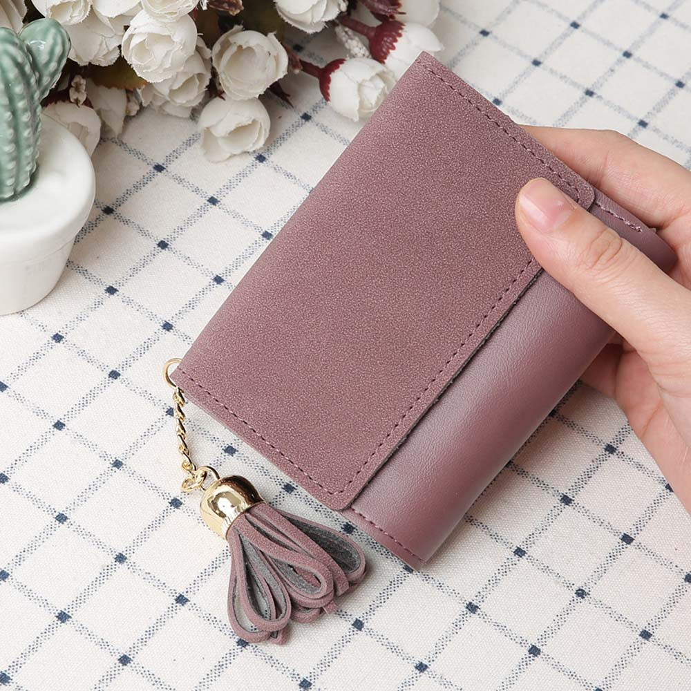 Mini Tassel Wallet Women Fashion Purse Female Short Students Lovely Purse Small Wallet High Quality Small Female 816