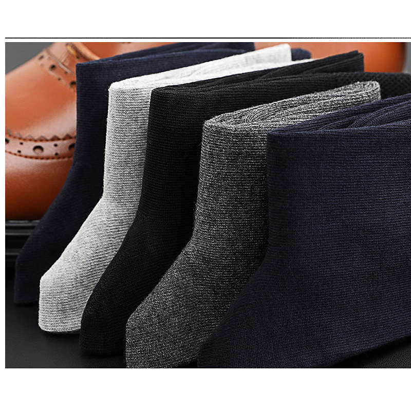2020 Brand New Men's Cotton Socks Black Business Casual Breathable Spring Summer Male Crew Socks Meias Hot Sale Sokken Size38-45
