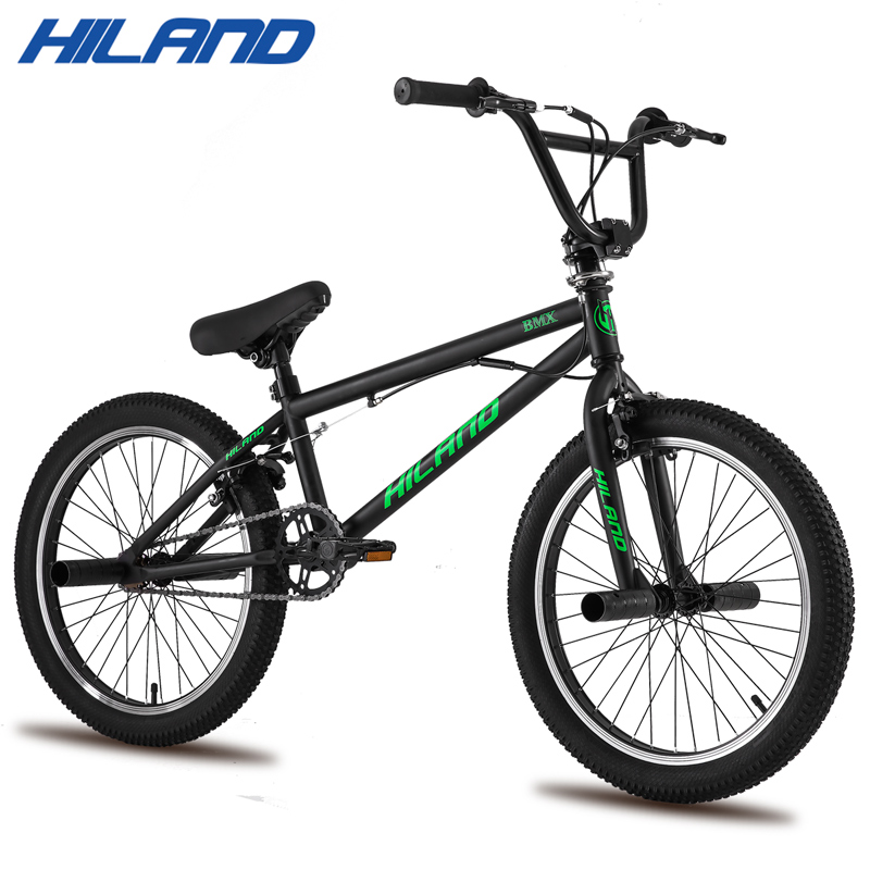 HILAND Bike Freestyle Steel Bicycle Double-Caliper Brake Acrobatic-Bike BMX 10-Color title=