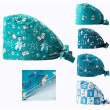 Scrubs Women Work-Hat Nurse-Accessories Laboratory Print New-Fashion Adjustable Gorro-De-Enfermera