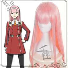 Cosplay Wig ZERO 02 Anime Pink-Color Two-Long Party-Supplies DARLING FRANXX The