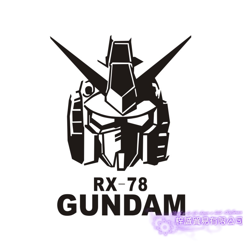 Pegatina GUNDAM Sticker Anime Cartoon Car Decal Sticker RX-78 Vinyl Wall Stickers  Decor Home Decoration