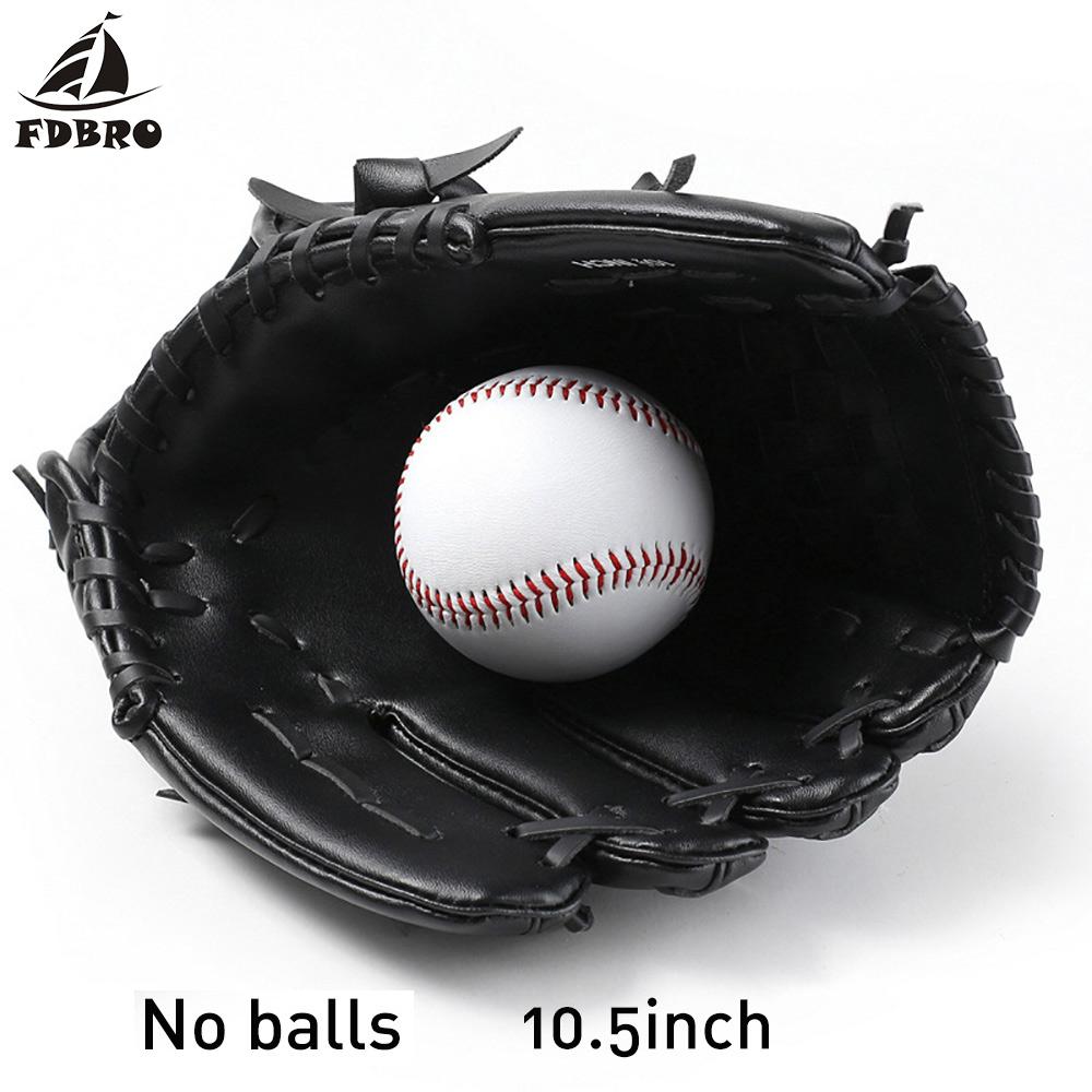 FDBRO Left Hand Man Woman Baseball Training Baseball Glove Outdoor Sports Brown Softball Practice Equipment Size 10.5/11.5/12.5