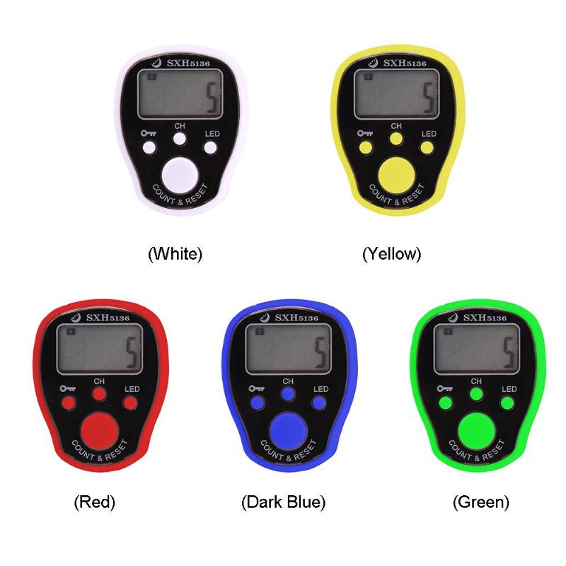 0-99999 LCD Display Finger Counter LED Luminous Electronic Tally Counter Heiß