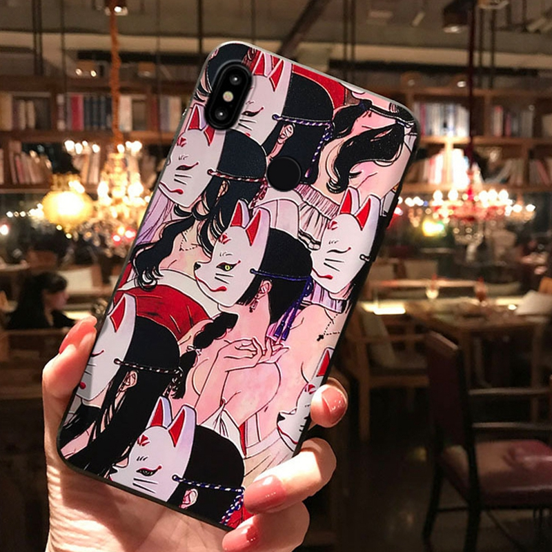 3D Fox Emboss For Xiaomi Redmi Note 7 Case Anime Capa Silicone Cover For Xiaomi Mi 9 8 Mi9 Mi8 SE Redmi K20 Pro 6 Note 3 6X Case
