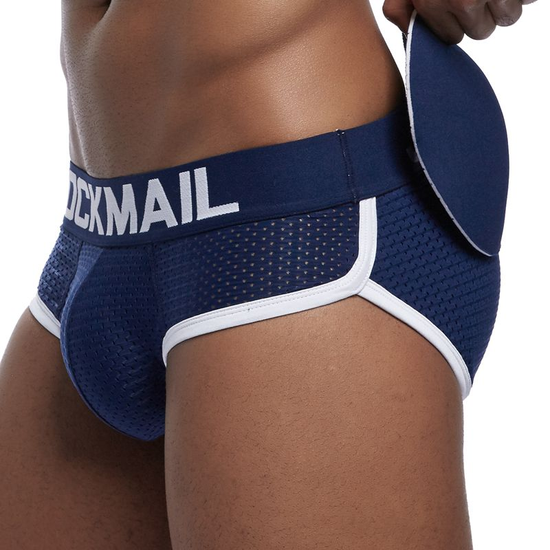 Sexy Men's Padded Butt Enhancing Brief fitted butt lifter brief Removable pads add natural-looking volume and butt enhancement