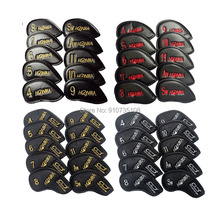 New10pcs/set Honma golf iron club headcover set upscale PU wit Single-sided embroidery golf rods cover 4-11 AW SW Free shipping