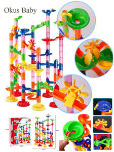 Building-Blocks Toys Maze Track Ball-Roll Construction-Marble Christmas-Gift Race-Run