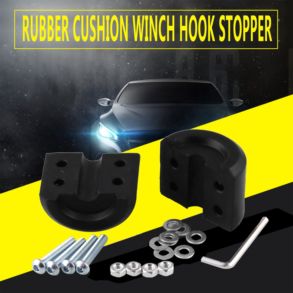 Cable-Protector Car-Accessories Stopper Winch-Hook Rubber Vehicle Car-Modification-Parts title=