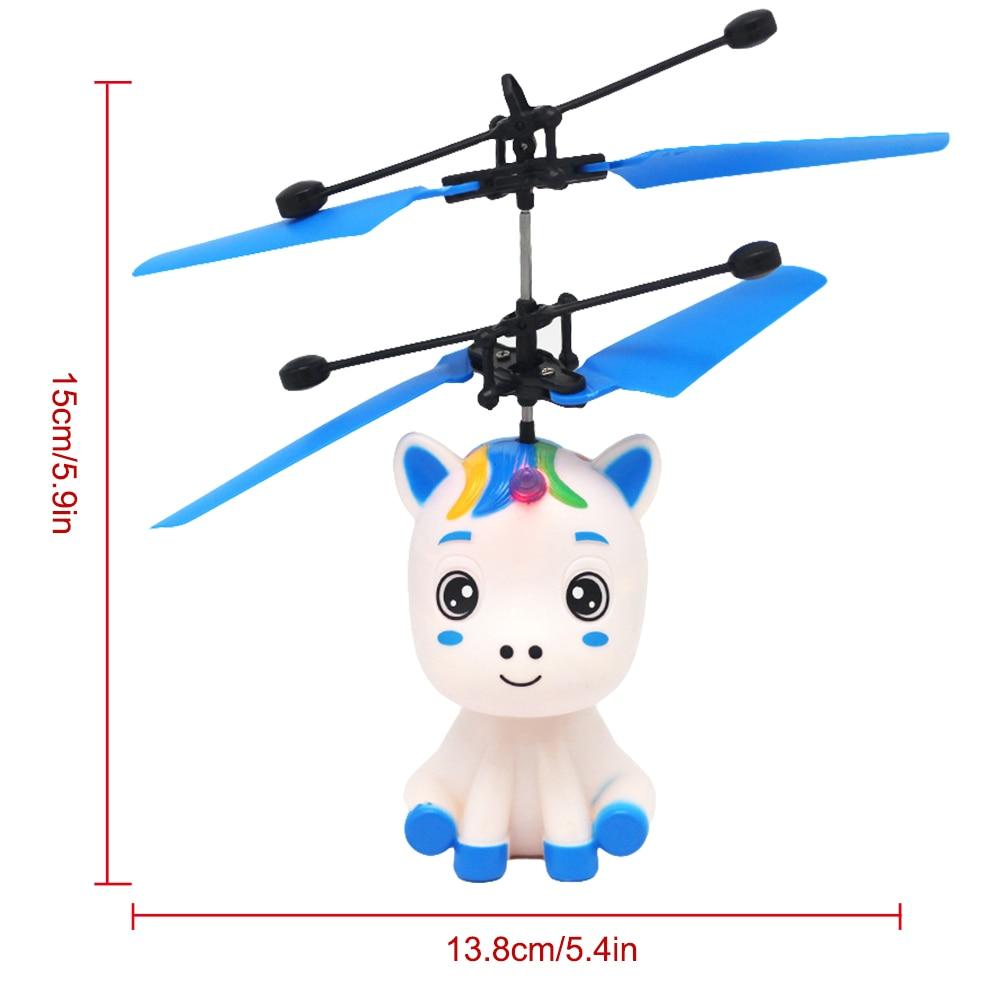 Sahgsa Helicopteros con Luces LED Brillantes de Unicornio Volador Juguete Volador Juguete para Ni/ños Regalos Navidad Cumplea/ños