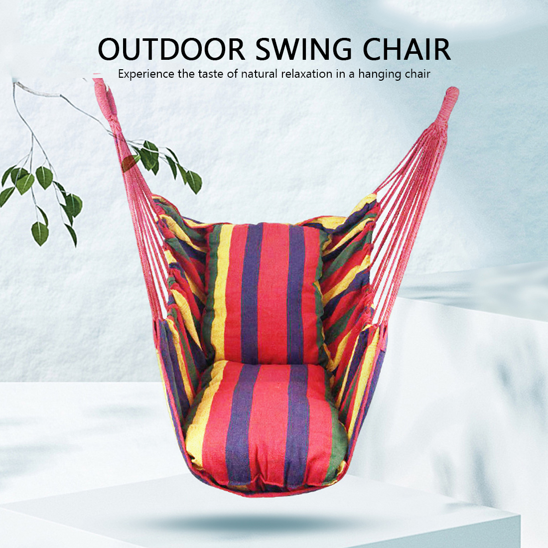 No Pillow Child/Adult Hammock 270 Hanging Rope Hammock Chair Swing Seat Large Hammock Chair Relax Hanging Swing Chair for Indoor