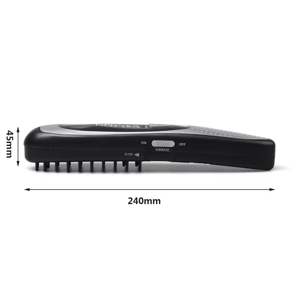 Modem - LED Electric Hair Growth Comb Hair Brush Hair Loss Stop Regrow Comb Therapy Comb Ozone Infrared Scalp Massager