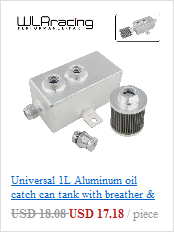 10 AN//ORB Ports S-Max Universal Baffled Aluminum Oil Catch Can with Filter.Two
