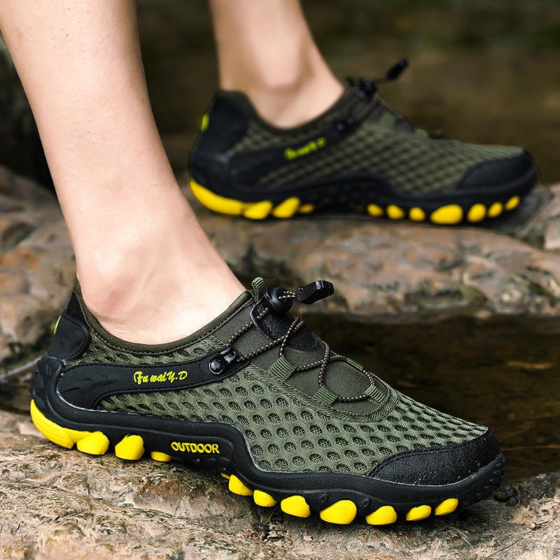 Aqua Shoes Ultra-light Quick-drying Beach Water River Walking 2019 Summer Men Mesh Breathable Flotillas Outdoor Hiking (29)