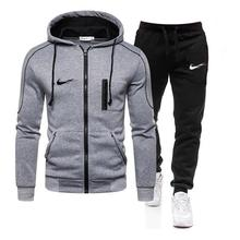 Sports Suit Pants Sweatshirts Hoodie Running-Suits Brand Clothes New-Pieces Winter Men's