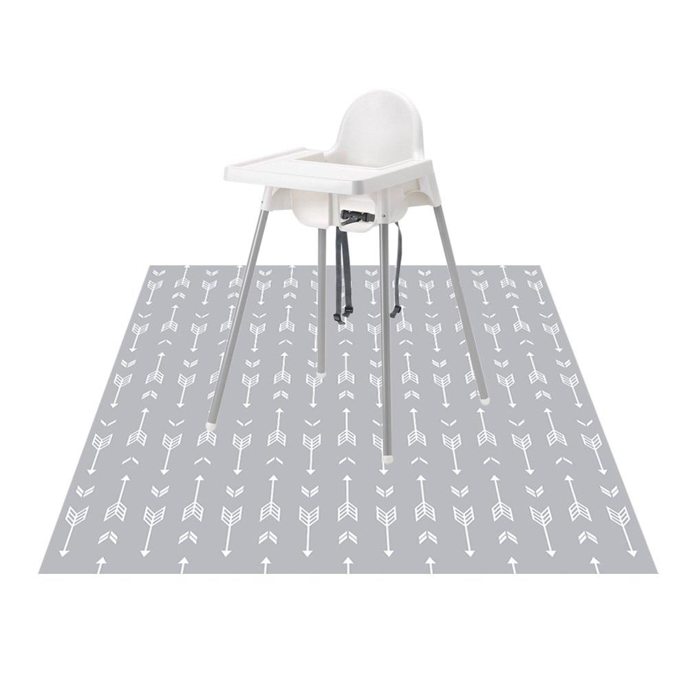 Mess-Mat Spot-Splash Floor Leak-Proof Mat-Anti-Slip -Foodcatcher-Art Silicone Highchair title=