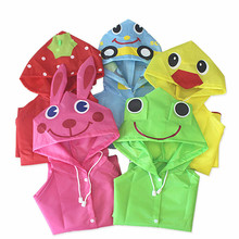 Kids Raincoat Poncho Rainwear/rainsuit Waterproof Children Cartoon for Student 1PC Animal-Style