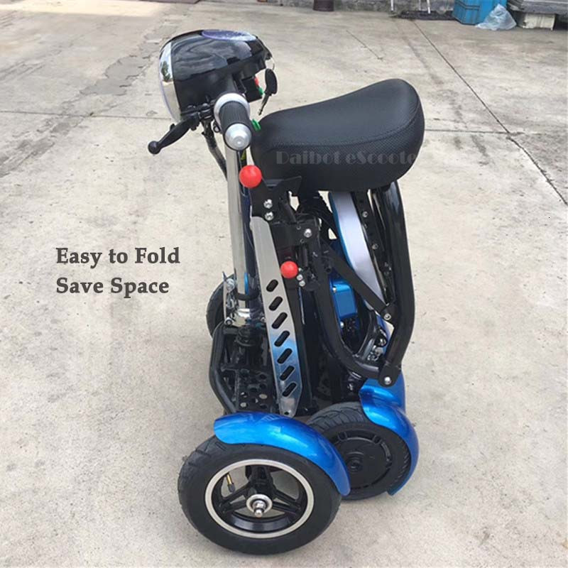 Daibot Electric Elderly Scooter 4 Wheels Electric Scooters 10 Inch 500W Foldable Electric Scooter For Disabled BlueBlackRed (25)