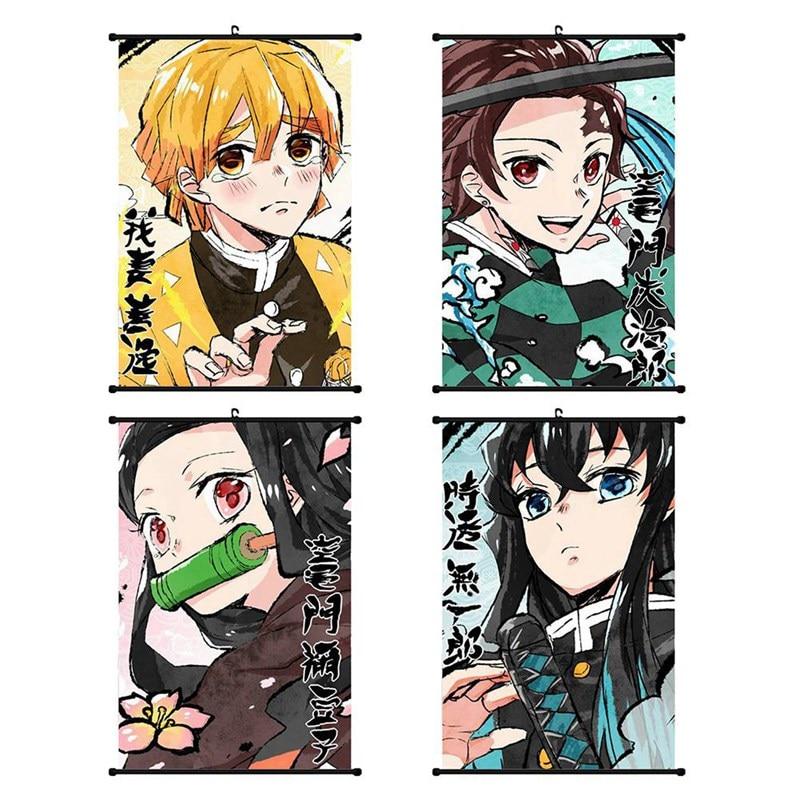 Demon Slayer: Kimetsu no Yaiba Tanjirou Nezuko Anime manga wall Poster Scroll