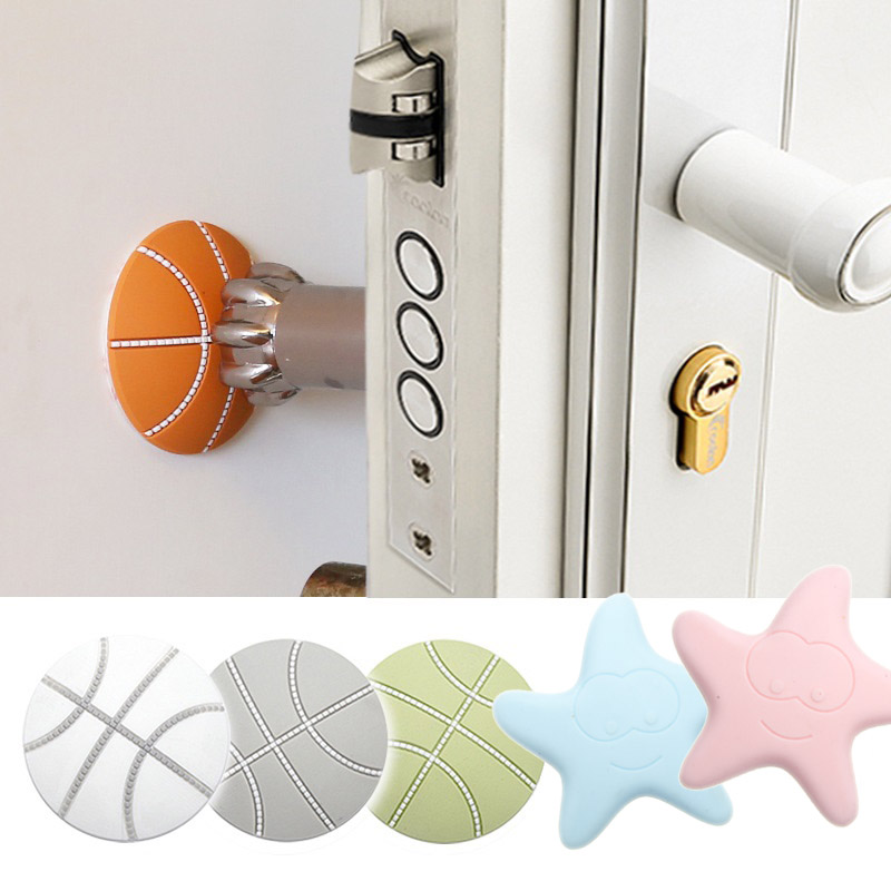 1pc Silicone Stars Golf Rubber Wall Sticker Thick Handle Fender Door Lock Protective Pad Mute Door Sticker Kids Bedroom Decor 7