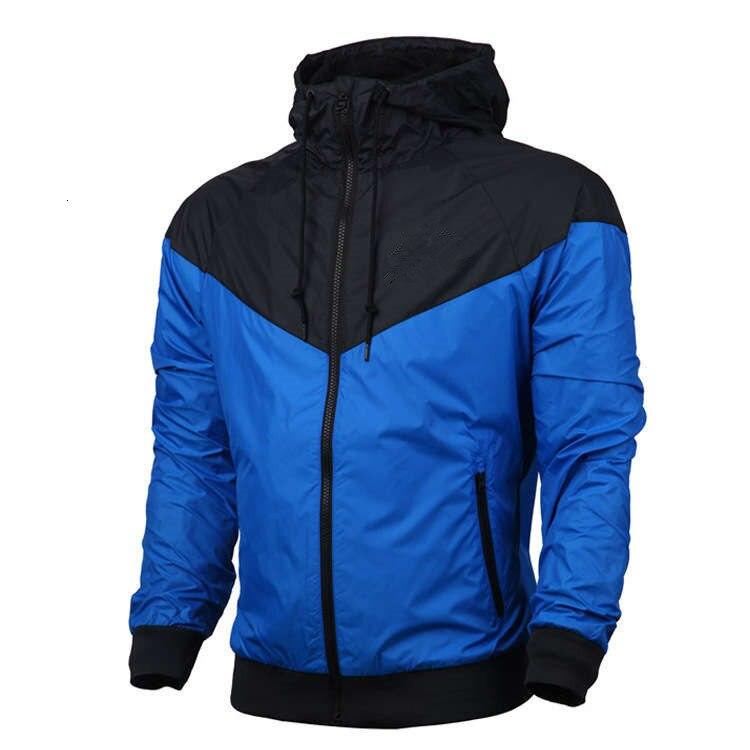 Men/'s Hooded Zip Streetwear Soccer Lightweight Windbreaker Windproof Jacket Red