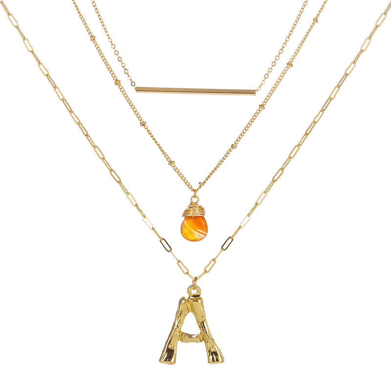 letter necklace women