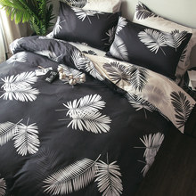Nordic style cotton cotton bedding four-piece student dormitory bed single bed bonin quilt cover(China)