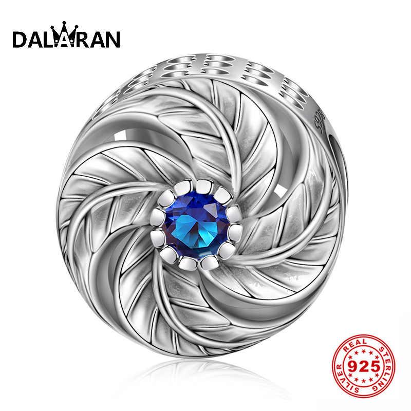 DALARAN 925 Sterling Silver Heart Pendants European Beads Charms Jewelry Gifts