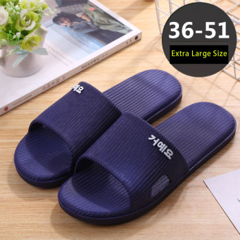 Men's Big Large Shoes Size 50 51 Unisex Beach Slippers Man Stripe Anti-slip Bath Shoes Male Slides Summer Slippers 2020