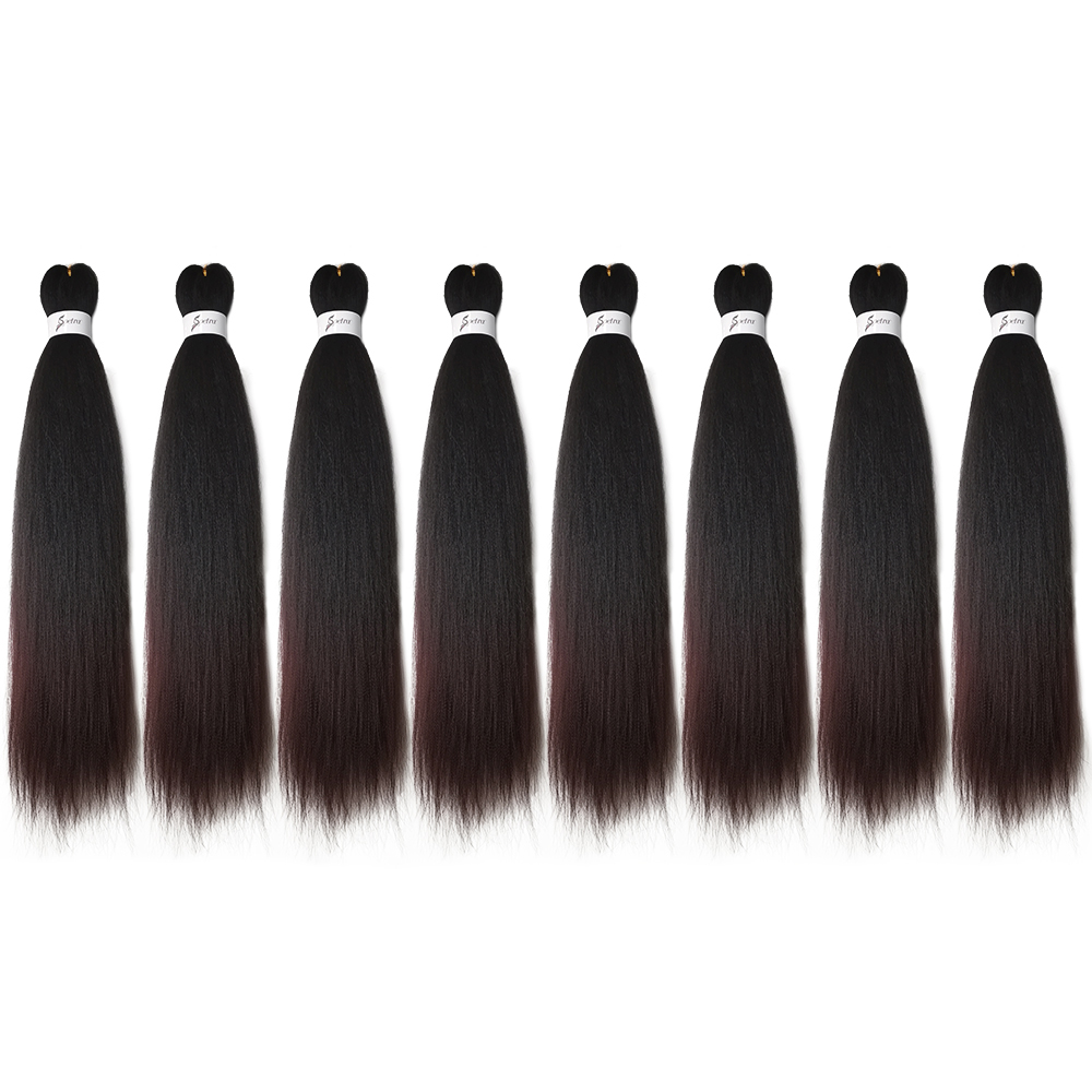 Hair - Ombre Braiding Hair Extensions Easy Crochet Braid Hair Bundles Yaki Straight SOKU Pre Stretched Synthetic Jumbo Box Braids Hair
