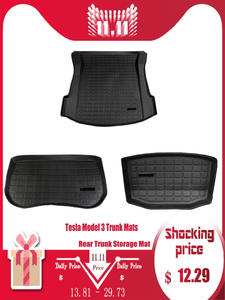 Mat Trunk-Mats Cargo-Tray Tesla Customized Model-3 Rear for Waterproof Protective-Pads