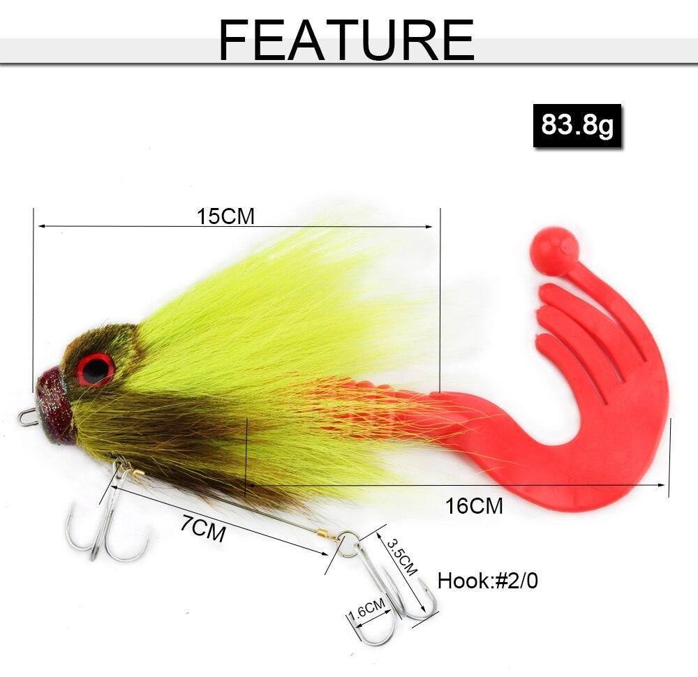 5pcs Soft Artificial Fishing Lure Rat Mouse Mice Bait Tackle Hooks 5cm 8g w//Box