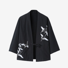 Yukata Men Jackets Cardigan Kimono Asian Clothes Samurai Haori Traditional Streetwear
