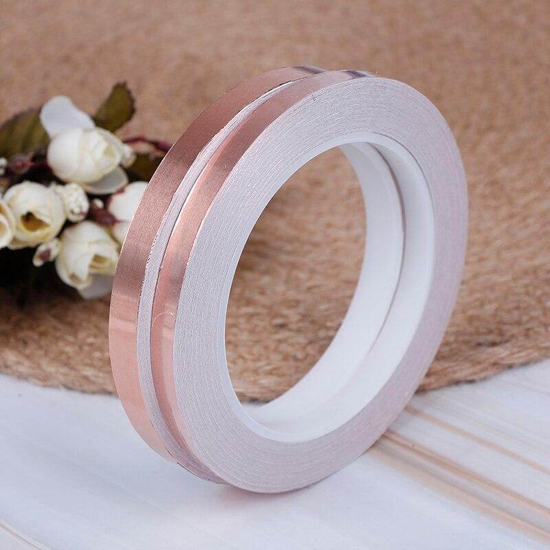 20m Single Side Conductive Copper Foil Shielding Tape 1 Roll EMI Conductive Self Adhesive Barrier Tape