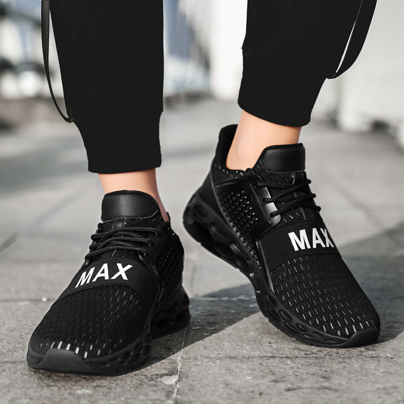 Sneakers Shoes Male Sport-Shoes Trainers Men Lightweight Fashion Lace-Up Mesh Zapatos-De-Mujer title=