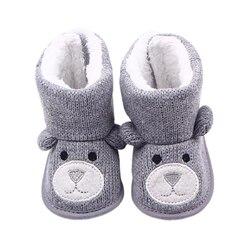 Сапожки для новорожденных теплые в виде медведя