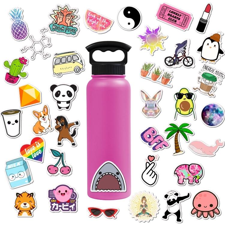 50 PCS Cute Kawaii Girls Stickers For Chidren Toy Waterproof Cartoon Sticker to DIY Suitcase Laptop Bicycle Helmet Car Decals