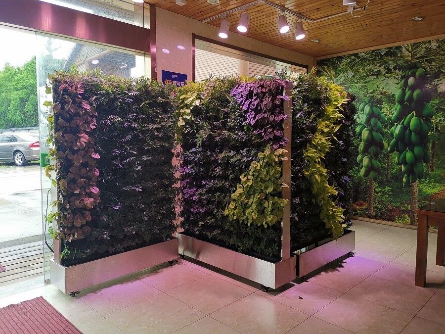 多款移动式植物墙展示 单面/双面带轮子可移动绿植墙