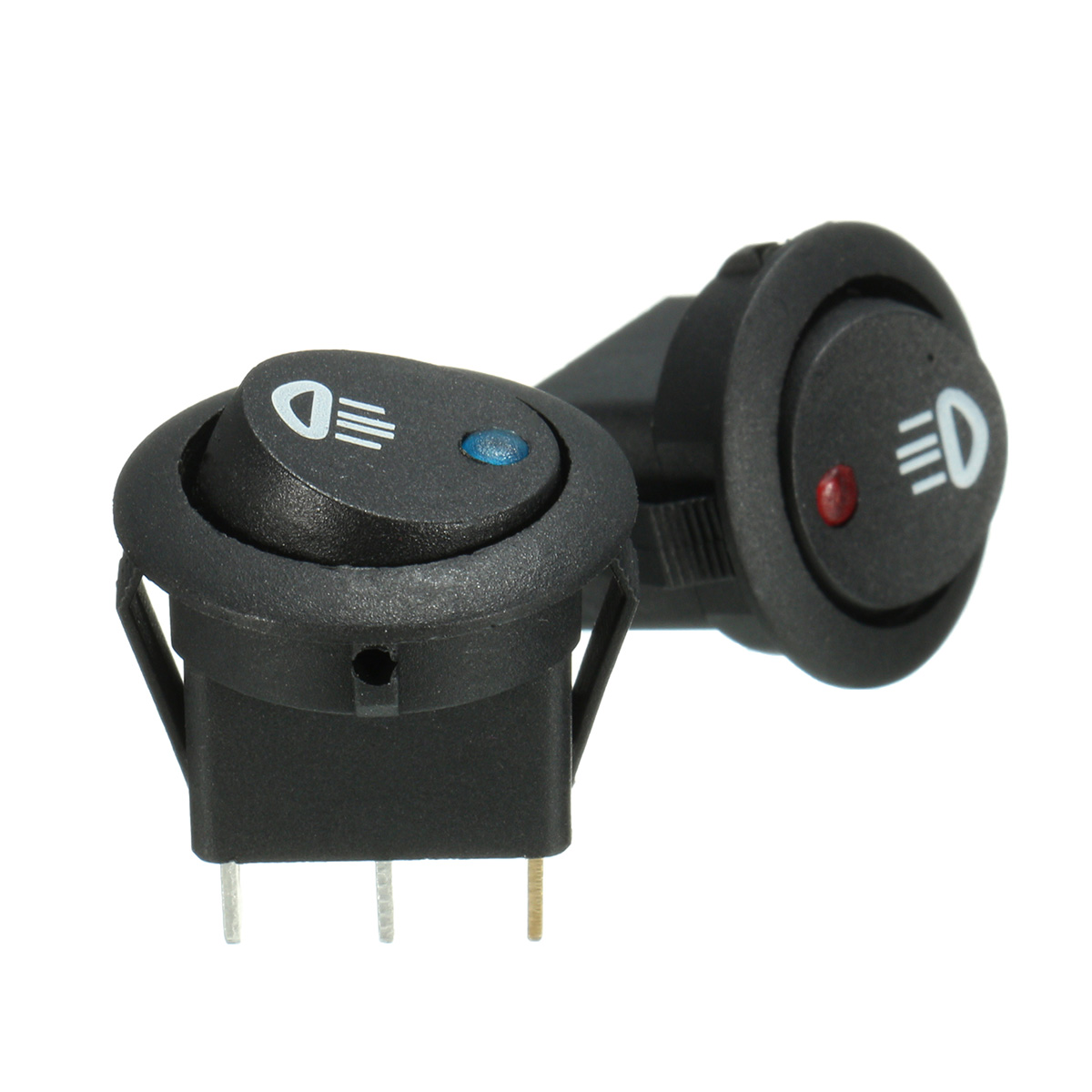 5x ON//OFF Round Rocker Switch LED illuminated Car Dashboard Dash Boat Van 12V//yL