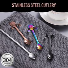 Cat Spoon Scoop Stainless Creative Cute Tableware Dessert Ice-Cream Snack