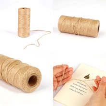 Rope Wrapping-Cords Thread Jute-Twine Burlap String Florists Wedding-Gift Natural 100m