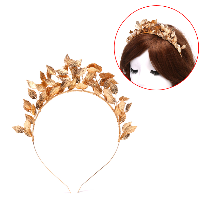NEW Silver Gold Leaf Tiaras Crowns Hair Accessories Metal Hairbands Wedding Headdress Bridal Hair Jewelry