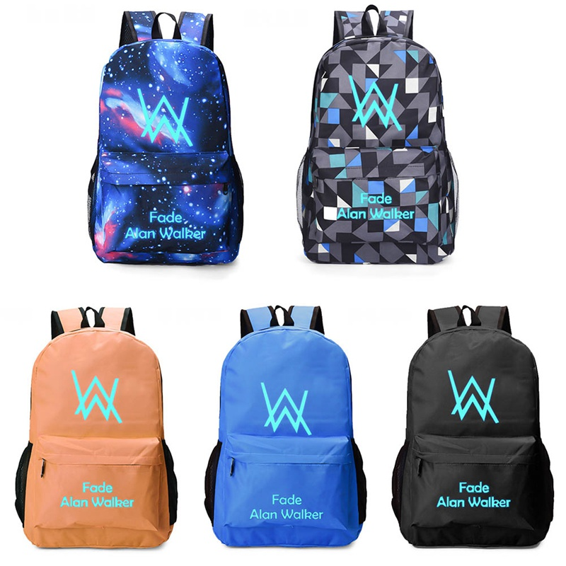 Faded Music School Bag noctilucous Luminous backpack student bag Notebook backpack Daily backpack Glow in the Dark