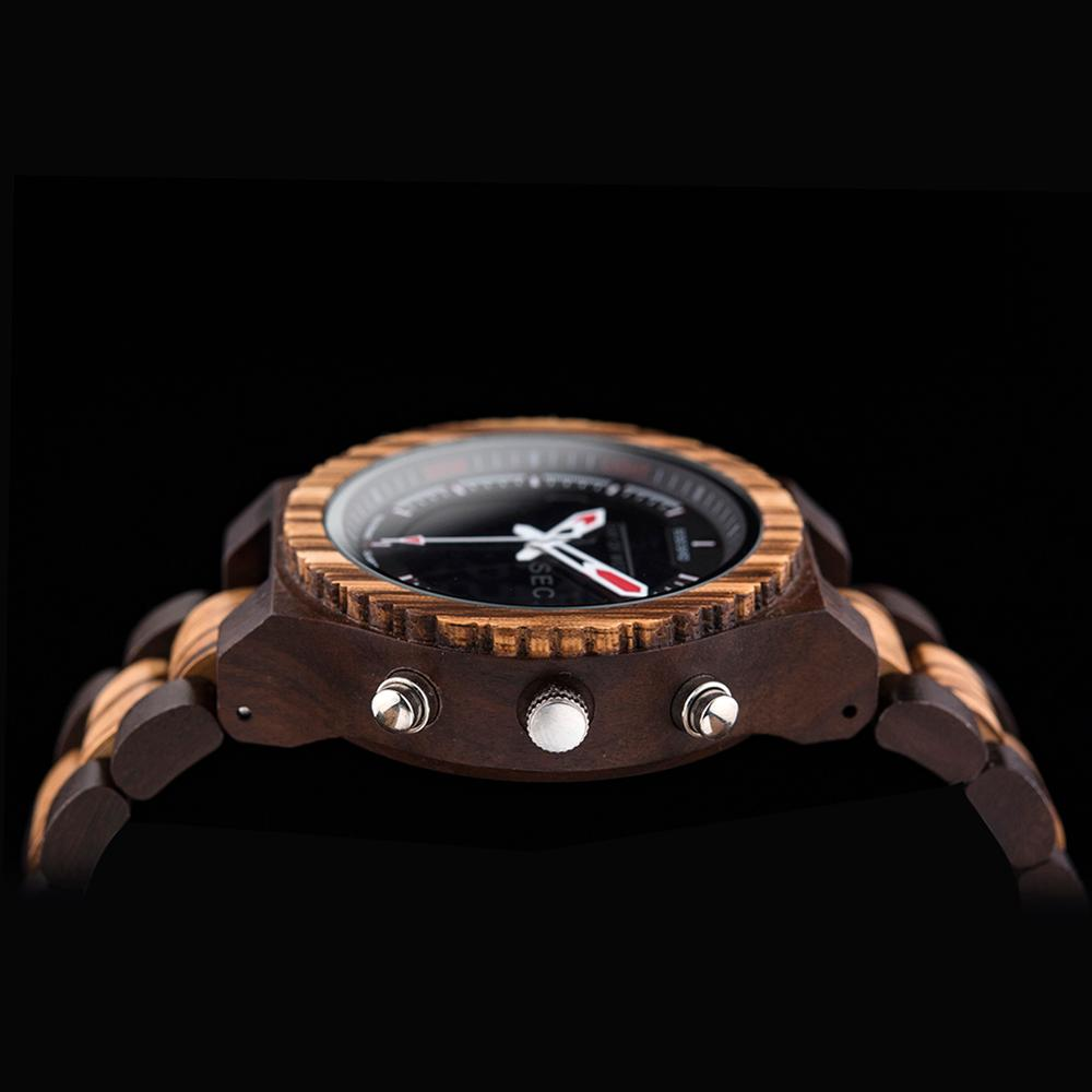 BOBO BIRD Luxury Men Multinational Digital Wood Wrist Watches Night Light and Week Display relogio masculino Timepieces