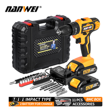 Cordless Screwdriver Hammer-Drill Power-Tools Hand Impact